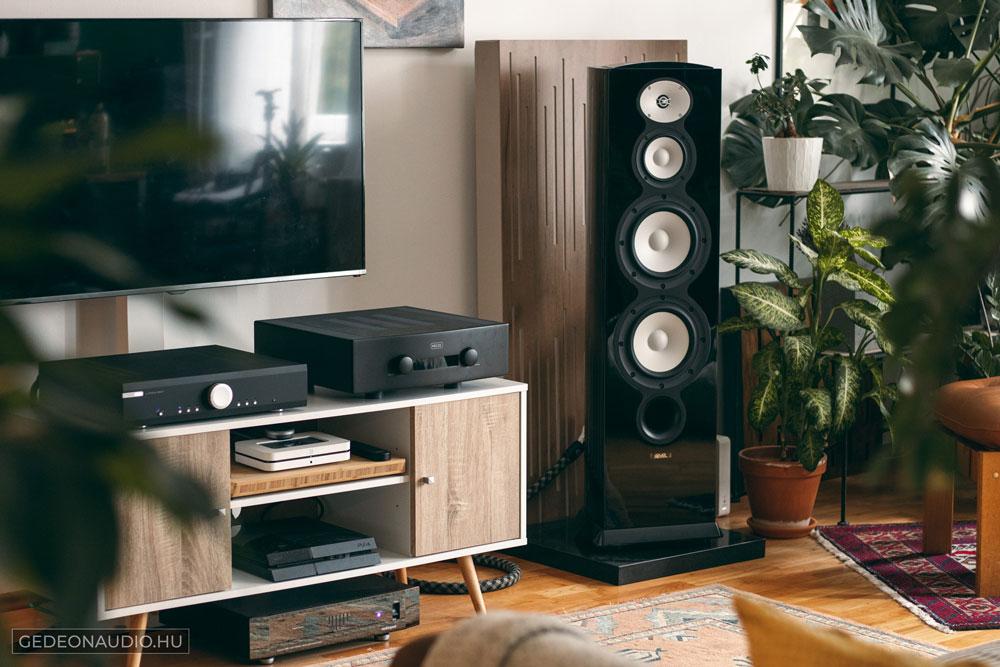 Revel Performa F228Be hangfal és Hegel H360 erősítő és Audioquest Niagara 3000 tápszűrő