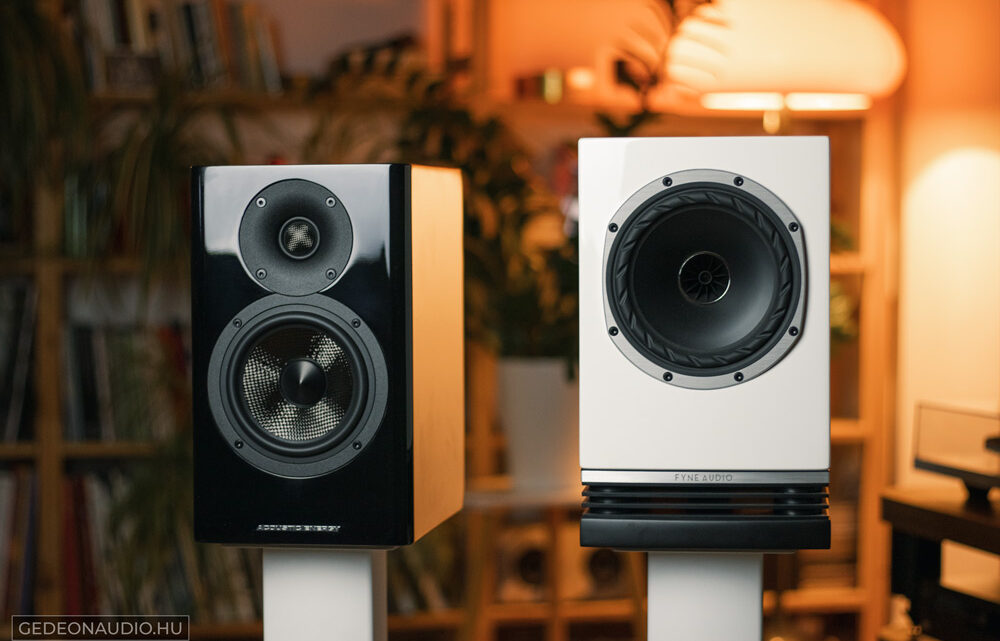Acoustic Energy AE500 hangfal és Fyne Audio F500 hangfal Gedeonaudio.hu