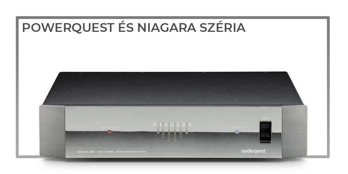 Audioquest Powerquest és Niagara tápszűrő gedeonaudio.hu