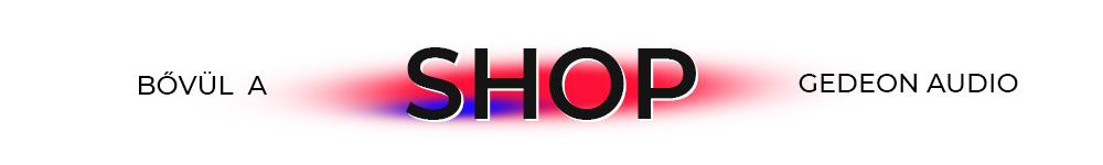GedeonAudio Shop Banner