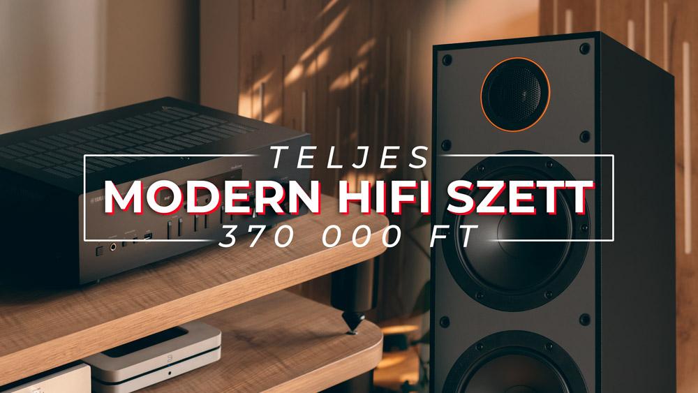 teljes modern hifi szett 370000 ft gedeonaudio monitor audio monitor 300 és yamaha r-n402 erősítő