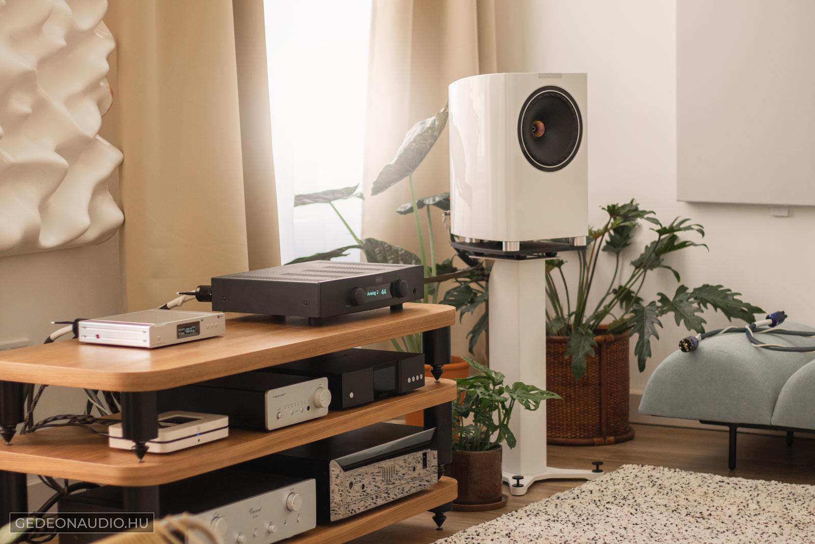 Gedeon Studio Fyne Audio F701 hangal Hegel H95 erősítő