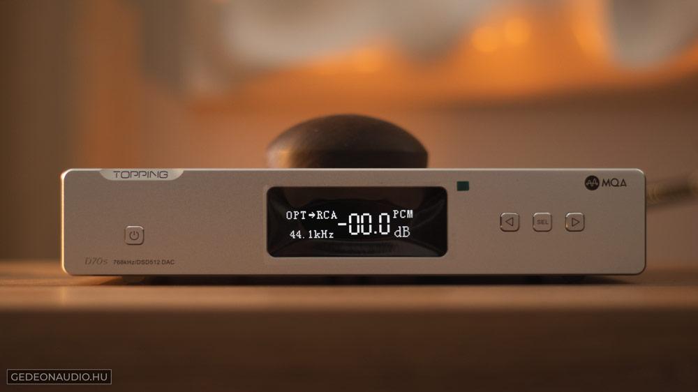 Topping D70S DAC teszt Gedeon Audio