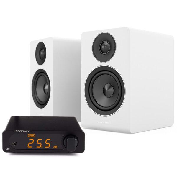 Topping MX3 erősítő és Acoustic Energy AE100 hangfal szett Gedeon Studio