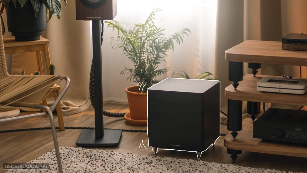 Acoustic Energy AE108 mélysugárzó teszt Gedeon Audio