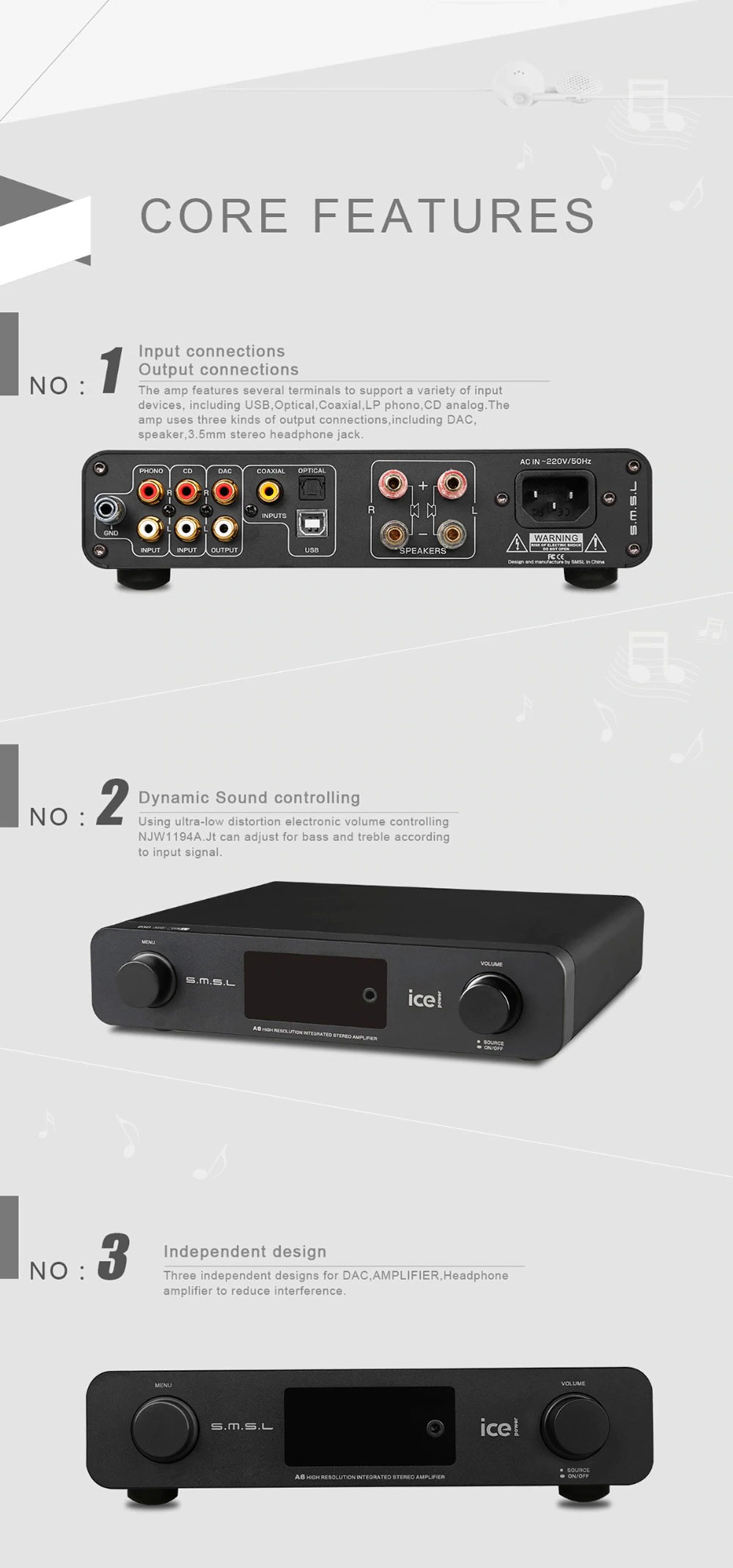 SMSL A6 erősítő Gedeon Audio