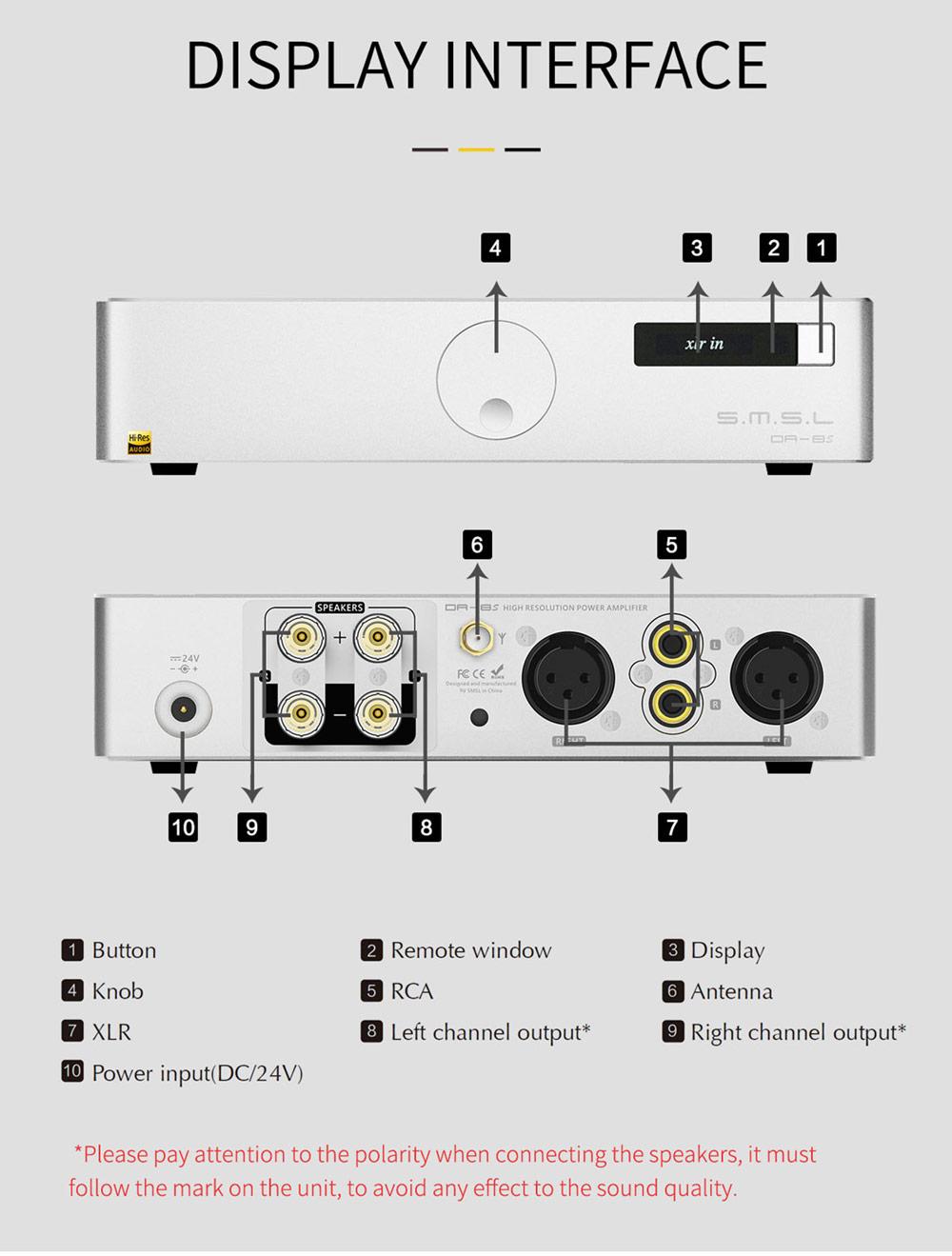 SMSL DA8 erősítő Gedeon Audio