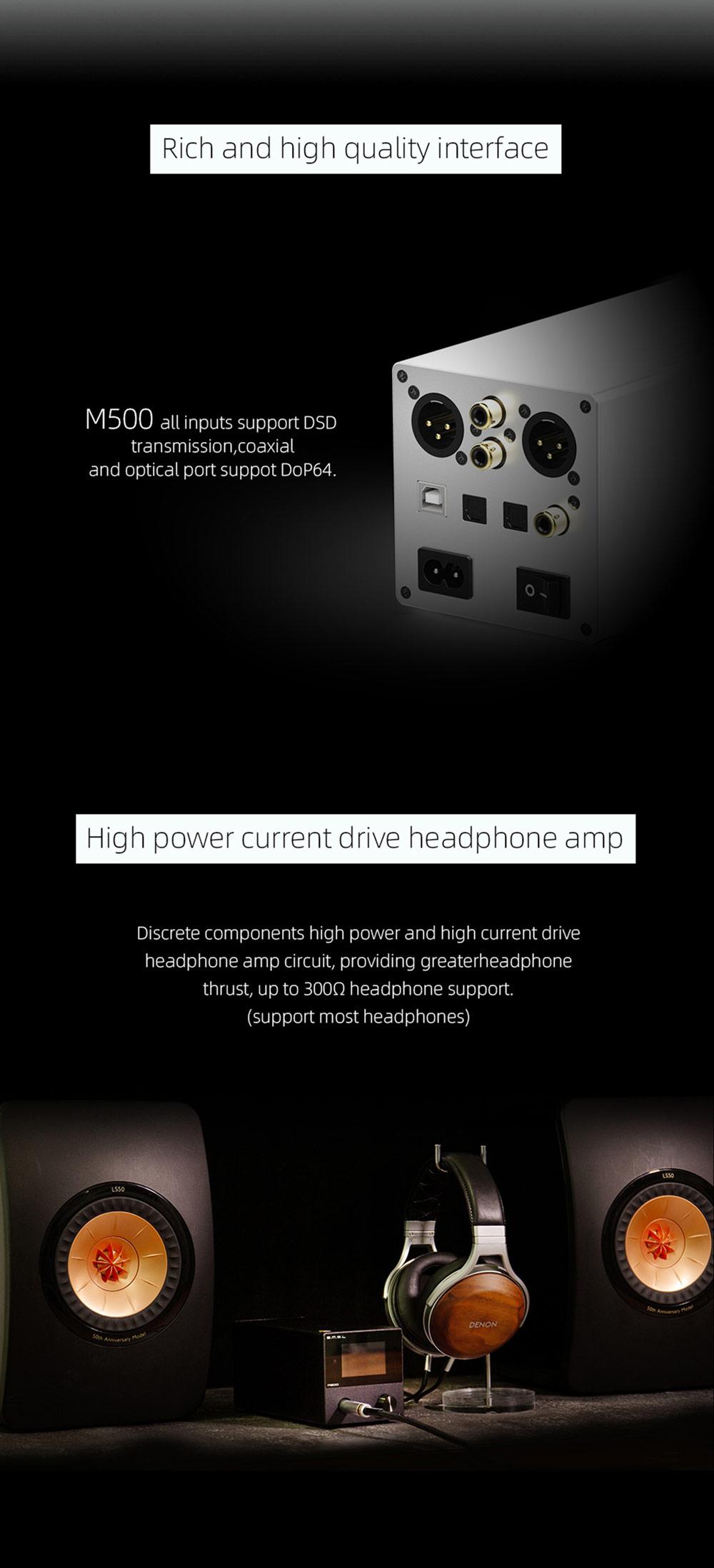 SMSL M500 DAC konverter Gedeon Audio