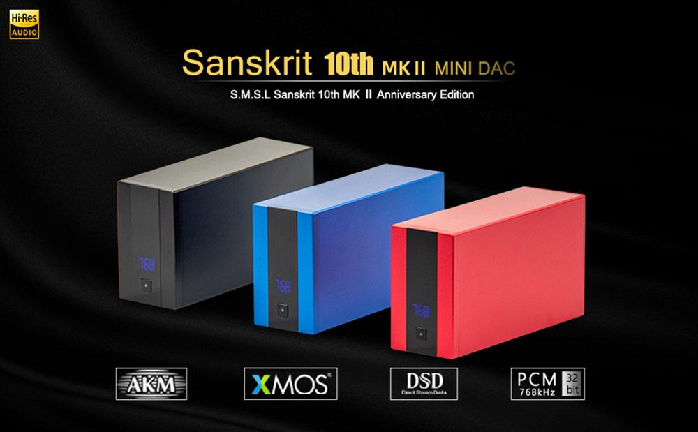 SMSL Sanskrit 10th MK2 DAC konverter Gedeon Audio