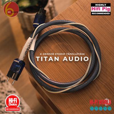 Titan Audio tápkábel és elosztó Gedeon Studio