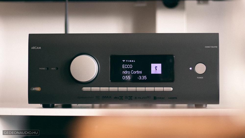 Arcam AVR10 házimozi erősítő teszt gedeon audio