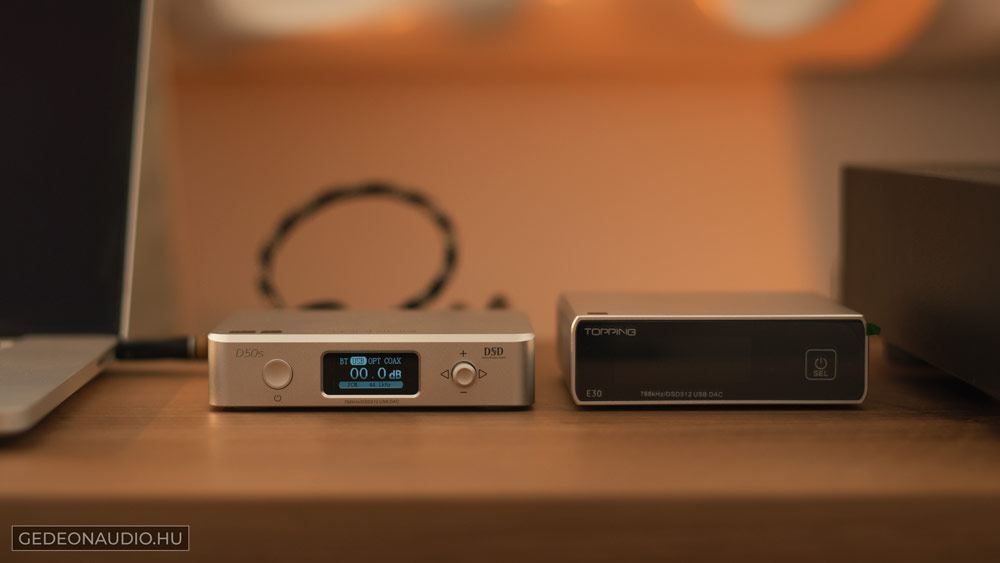 Topping D50S DAC teszt Gedeon Audio
